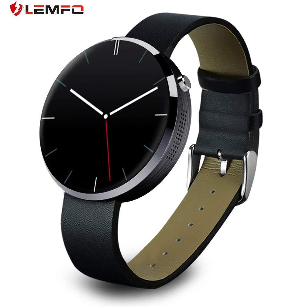 FairytaleMM LEMFO DM360 Bluetooth Impermeable Reloj Inteligente Monitor de Ritmo cardíaco Fitness Tracker (Color: Negro): Amazon.es: Deportes y aire libre