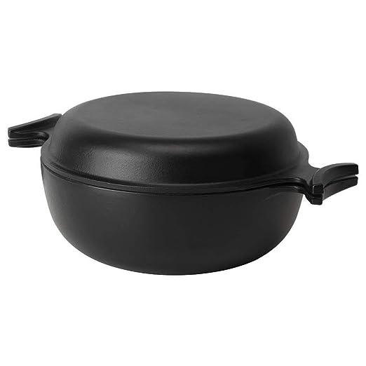 Olla con tapa, color negro, 5 l: Amazon.es: Hogar