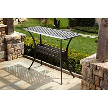 Amazon Com Alfresco Home Cast Aluminum Outdoor Sideboard
