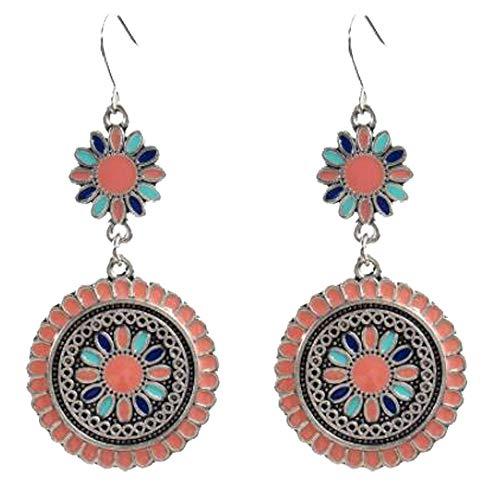 Boho Beaded Drop Earrings Teardrop Dangle Crystal Gemstone for Women Crystal Beaded Teardrop Hoop Earrings