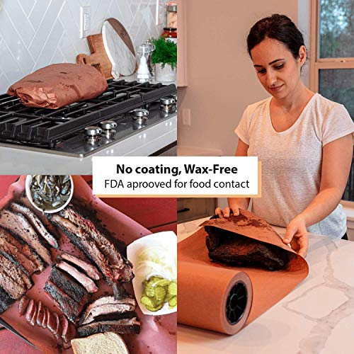 Butcher Paper Roll USA Made, Fda Approved, for BBQ and Meat Smoking. Natural Unbleached Paper by DIY Crew (Pink, 24''x200') by DIY Crew (Image #6)