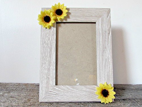 Sunflower Picture (Sunflower Picture Frame 4x6, 5x7 or 8x10- Wood Photo Frame- Home Decor- Birthday Graduation Gifts for Teen Girl Women)