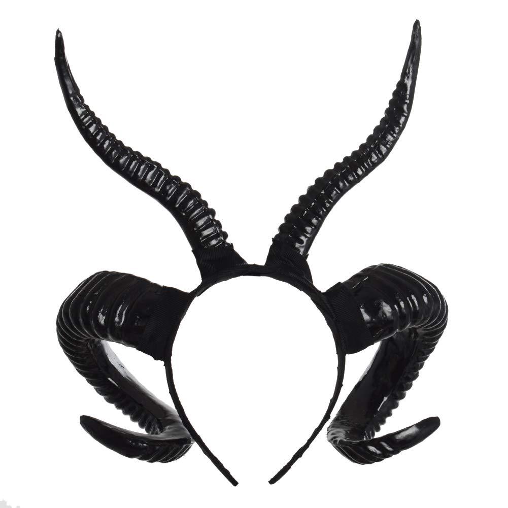 Diadema g/ótica con cuernos de carnero accesorio para cosplay GRACEART