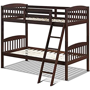 Amazon Com Solid Wood Twin Bunk Beds With Detachable Kids