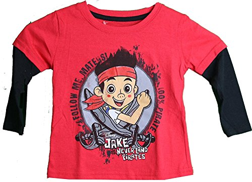 Disney Jake and the Neverland Pirates Layered Long Sleeve Toddler T-Shirt (4T) ()