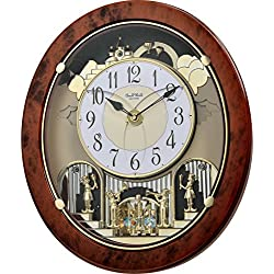 Rhythm Clocks Woodgrain Stars Magic Motion Clock