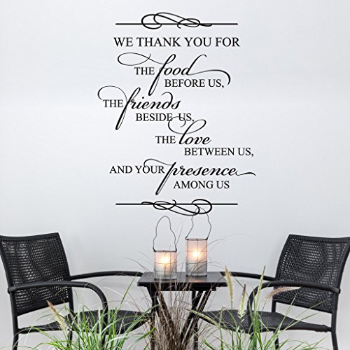 N.SunForest We Thank You for The Food Religious Quote Bible