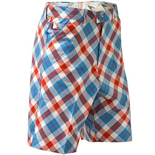 Royal & Awesome Men's Plus Size Golf Shorts, Plaid a Blinder, 38