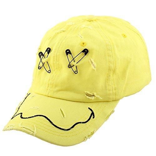 eDealMax Unisex Metal X Lettera Decor Outdoor Sports Golf Baseball regolabile visiera Cap Hat
