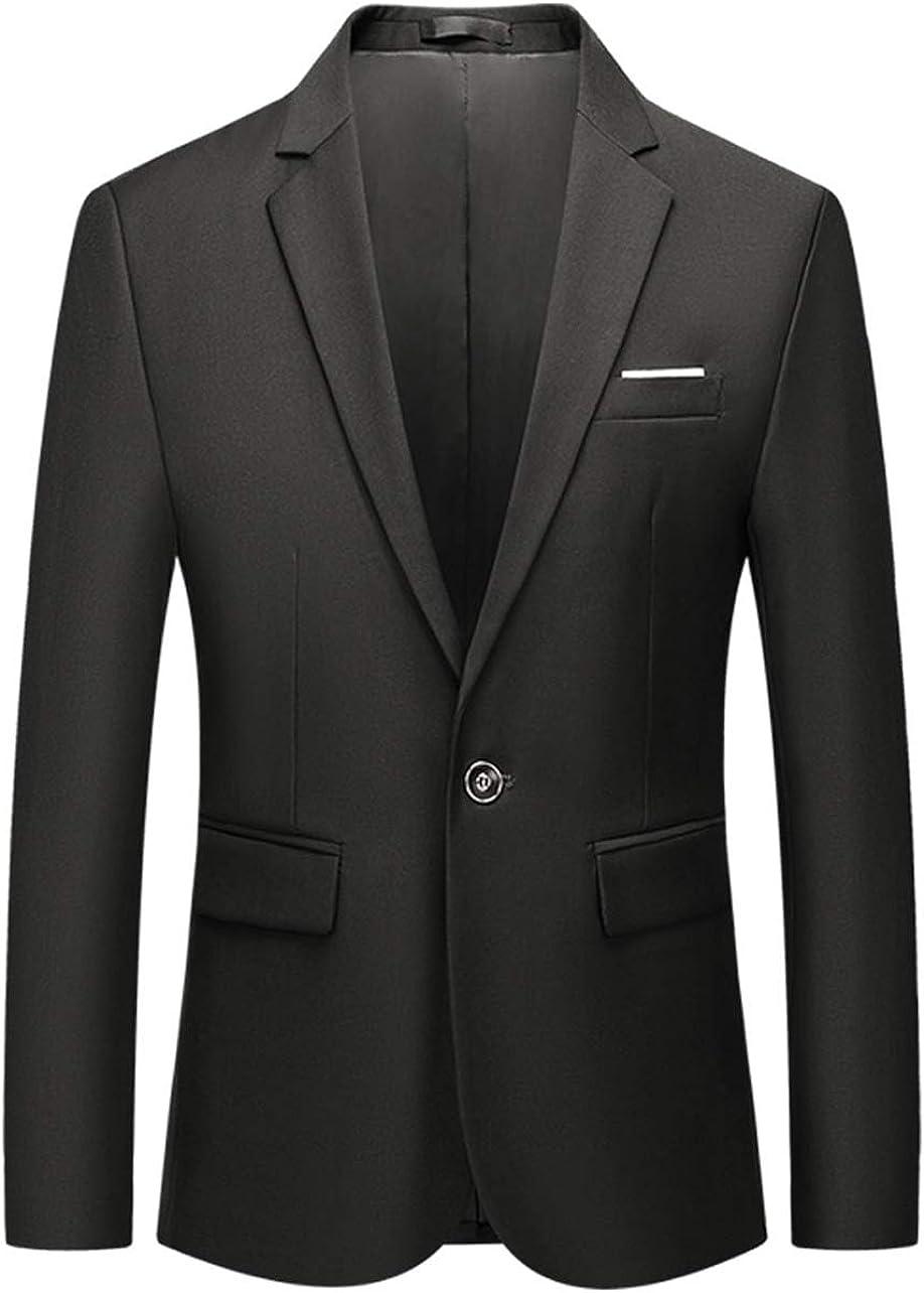 Vchomi Men's 1 Button Slim Fit Blazer