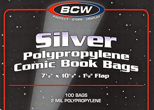 800 Silver Age Comic Bags and Backing Boards by BCW (Image #1)