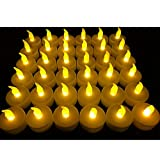 #4: Flameless LED Tea Light Candles, Vivii Battery-powered Unscented LED Tealight Candles, Fake Candles, Tealights (36 Pack)