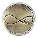 Ginger Snaps BRASS INFINITY LOVE SN01-17 Interchangeable Jewelry Snap Accessory