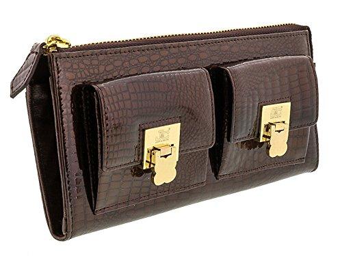 Jacky&Celine J11-012 MORO Brown Zippered Large Wallet - Celine Wallet