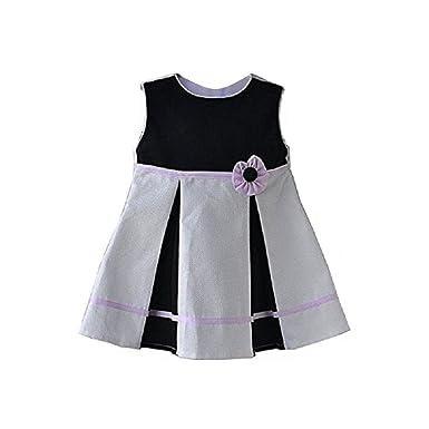 5e2ba4b3a00e6b Cute & Trendy Baby Piquet-Kleid Mädchen festlich Feier edel Faltenrock  schwarz weiß rosa K5