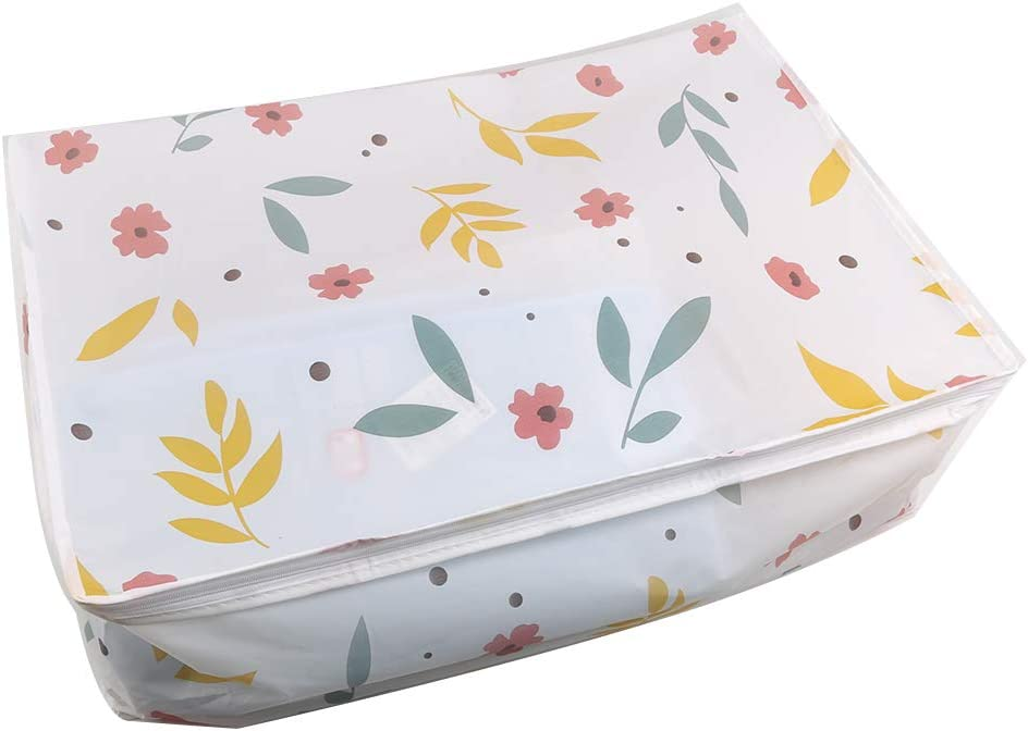 UINKE Waterproof Travel Luggage Organizer with Zipper Packing Organizer Bra Underwear Storage Bag,Floral Small
