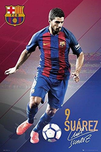 Soccer Poster // Print By POSTER STOP ONLINE Lionel Messi, Neymar Jr., Luis Suarez... FC Barcelona Black Poster Hanger Size: 24 x 36