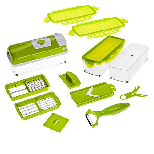 Genius Nicer Dicer Smart | 13 Pieces | Food-Chopper | Multi-Cutter | Slicer...