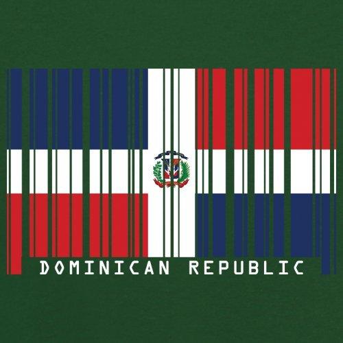 Dominican Republic / Dominikanischen Republik Barcode Flagge - Herren T-Shirt - Flaschengrün - XXXL