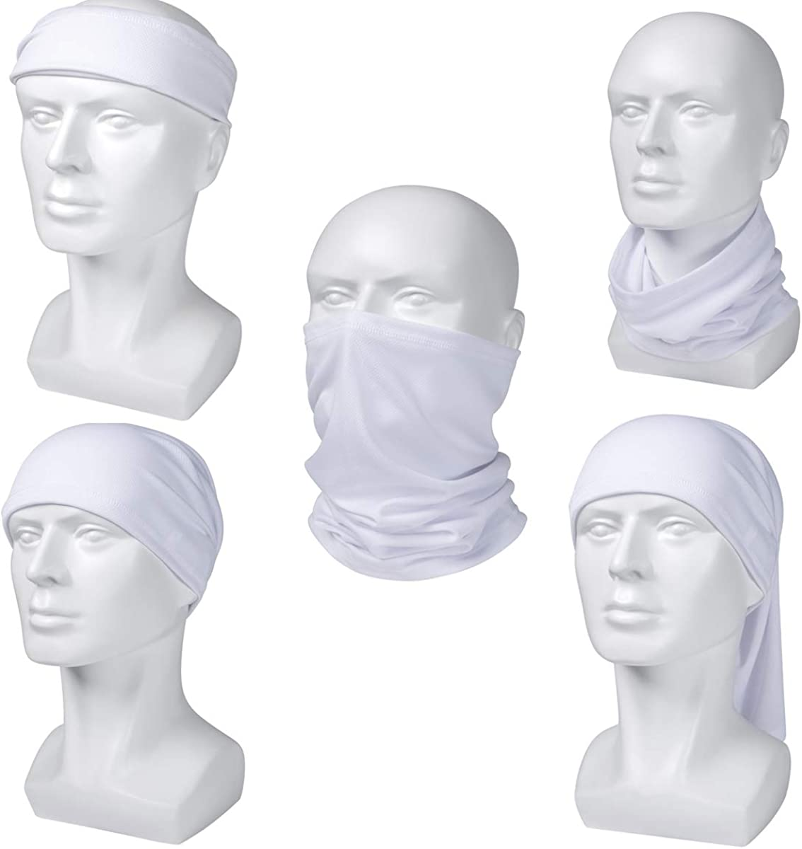 Sun UV Protection Neck Gaiter Washable Reusable Halloween Face Mask Cover Dust Wind Bandana Balaclava for Fishing Hiking at  Men's Clothing store