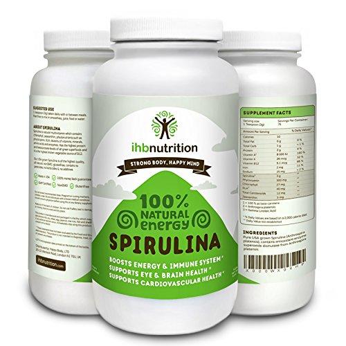BHI Nutrition Spiruline : USA cultivé plus pure poudre de spiruline Source, tous les super naturel, sans OGM, perte de poids & Detox
