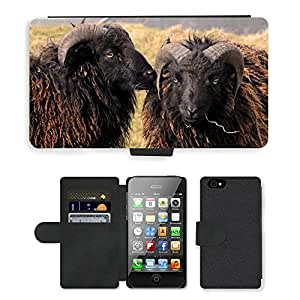 Super Stella Cell Phone Card Slot PU Leather Wallet Case // M00107347 Sheep Island Of Ouessant France Wool // Apple iPhone 4 4S 4G