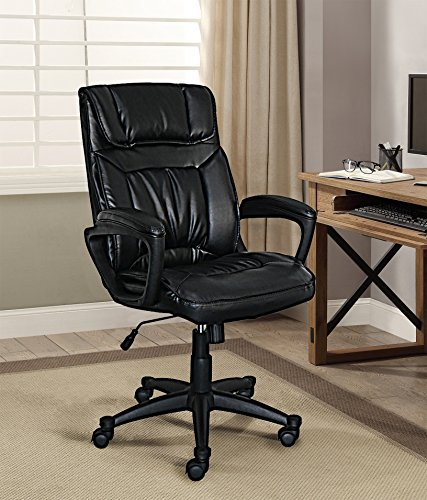 Serta Style Hannah I Office Chair, Bonded Leather, (Executive Fabric Faux Leather)