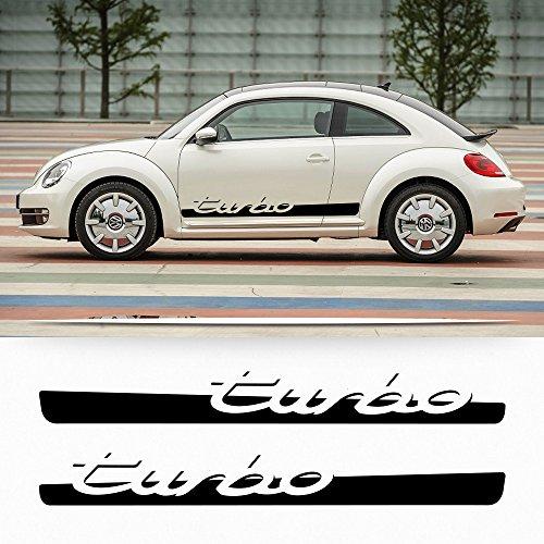 Volkswagen Beetle Turbo (VW Volkswagen Beetle Turbo 2012-2016 decal Porche script turbo decal stripe)