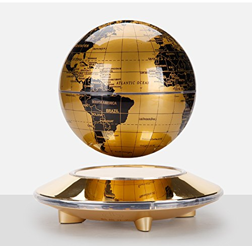 NEW Educational Magnetic Rotating Levitation Floating 6 inch Globe Display in Air Briday