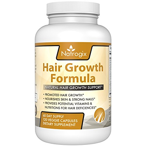 Natrogix Fast Acting Hair, Skin and Nails Vitamins with Visible Results. 5000 mcg Biotin, MSM, Keratin, Bamboo Extract. 2 month supply. American Made Vitamins for Hair Growth for Women or Men