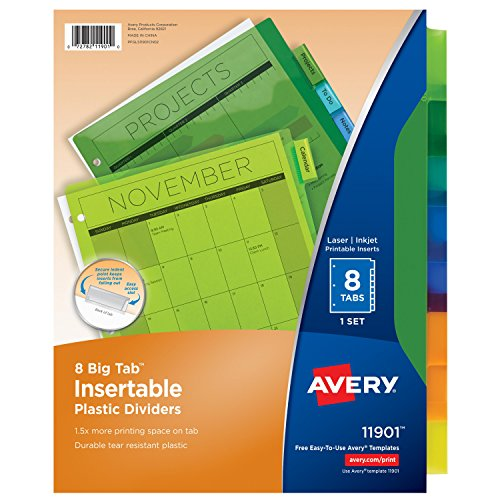 10 organizing tools for spring cleaning for Avery big tab inserts for dividers 8 tab template
