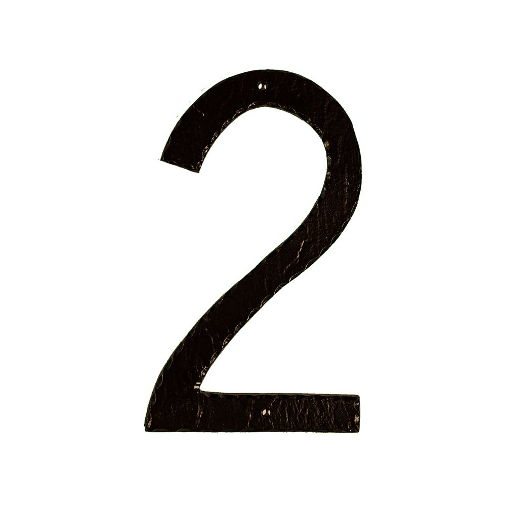 Montague Metal Products Textured Font Individual House Number, 2, 10-Inch