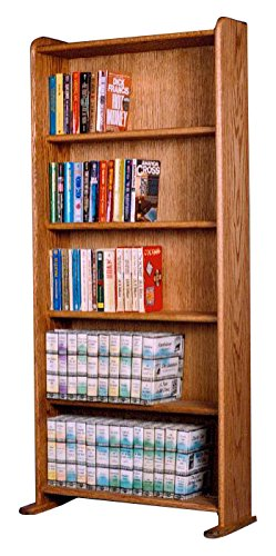 The Wood Shed 507 DVD/VHS Solid Oak DVD-VHS Cabinet, Honey