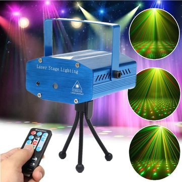 Laser Light Projector - Led Projector Laser Lights - Mini Auto/Voice Control Led Laser Stage Projector With Remote For Xmas Party Ktv - Us Plug (Mini Laser Light Projector)