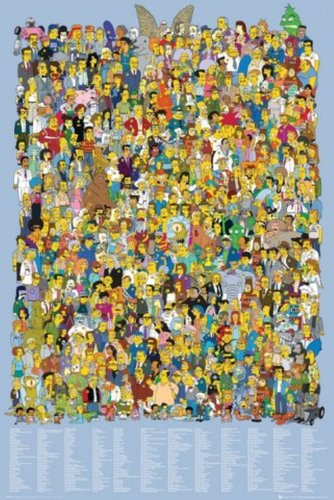 Click for larger image of Posters: The Simpsons Poster - Cast 2012, All Characters (36 x 24 inches)