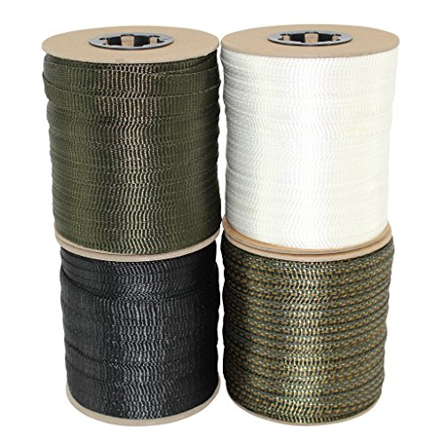 SGT KNOTS Polyester FlatRope / Arbor Webbing / Utility Rope 5/8 Inch x 100, 300, 500, 3,000 Feet Spools Several Colors
