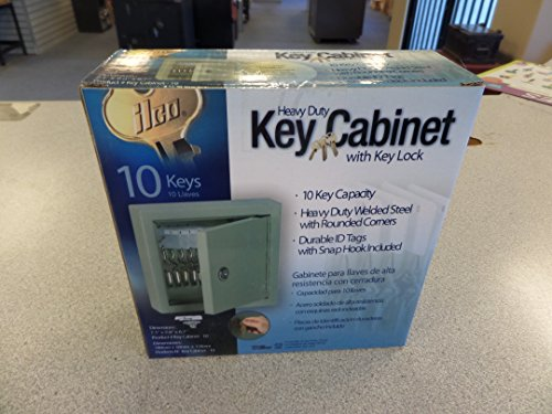 Ilco Locking 10 Key Steel Cabinet