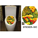 KAKA(TM) Bathroom Toilet Waterproof Decorative Stickers Cute...
