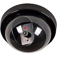 Camara falsa - SODIAL(R)Negro circuito cerrado de television exterior e interior camara simulada falsa de seguridad de boveda con luz intermitente LED de luz roja
