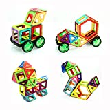 Magnetic Building Blocks Set 66 PCS, Magnetic Tiles, Construction Build Kit Toys Creative and Educational for kids- boys and girls by Flyspro