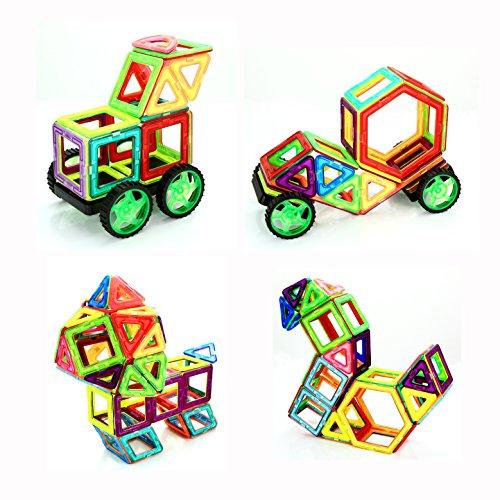 Magnetic Building Blocks Set 66 PCS, Magnetic Tiles, Constru