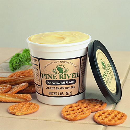 (Pine River Horseradish Cheese Spreads (3-8oz Tubs) Shelf Stable)