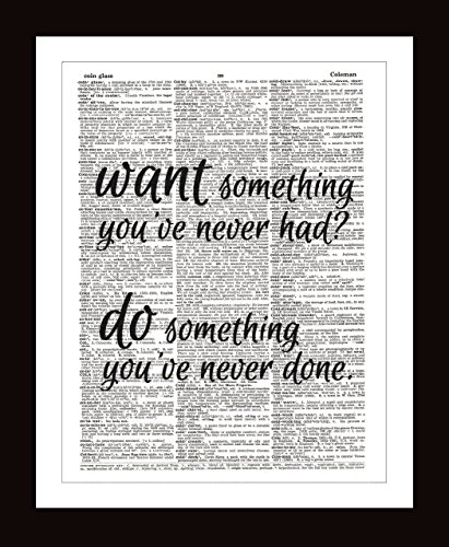 Wall Hanging Quotes Amazon.com: Want Something Do Something DICTIONARY ART PRINT  Wall Hanging Quotes