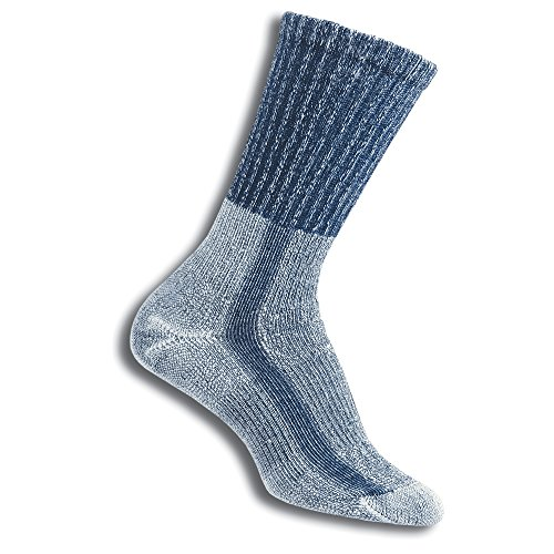 (Thorlos Women's  LTHW Light Hiking Thick Padded Crew Sock, Slate Blue, Medium)