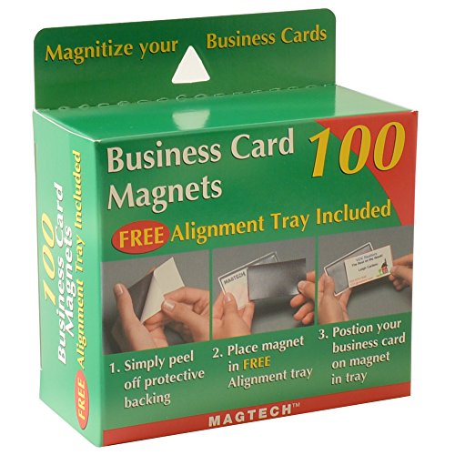 Magtech Business Card Magnets with Alignment Tray, 100 Count (50100) by Magtech