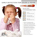 Baby Thermometer - Oral, Rectal & Underarm, Axillary Fever Medical Thermometers by Zoe+Ruth- Accurate, Waterproof, Fast Quick Read Display - Electronic Clinical Temperature Monitor for Kids & Adults.