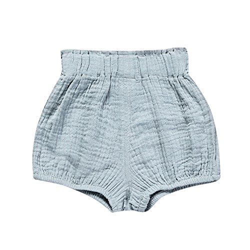 Birdfly Toddler Baby Basic Underpant Bloomers Diaper Cover Infant Boys Girls Bottom Shorts Cotton Clothes (6M, Blue) ()