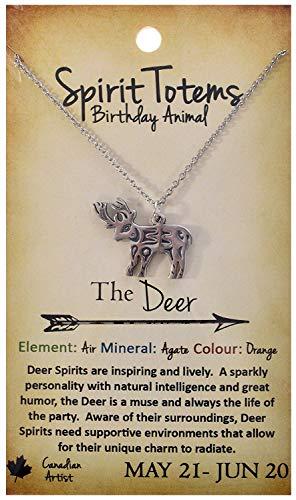 (Shag Wear Spirit Totems Birthday Animal Pendant Necklace (Deer Pendant))