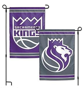 """NBA Sacramento Kings 12.5"""" x 18"""" Inch 2-Sided Garden Flag Logo"""