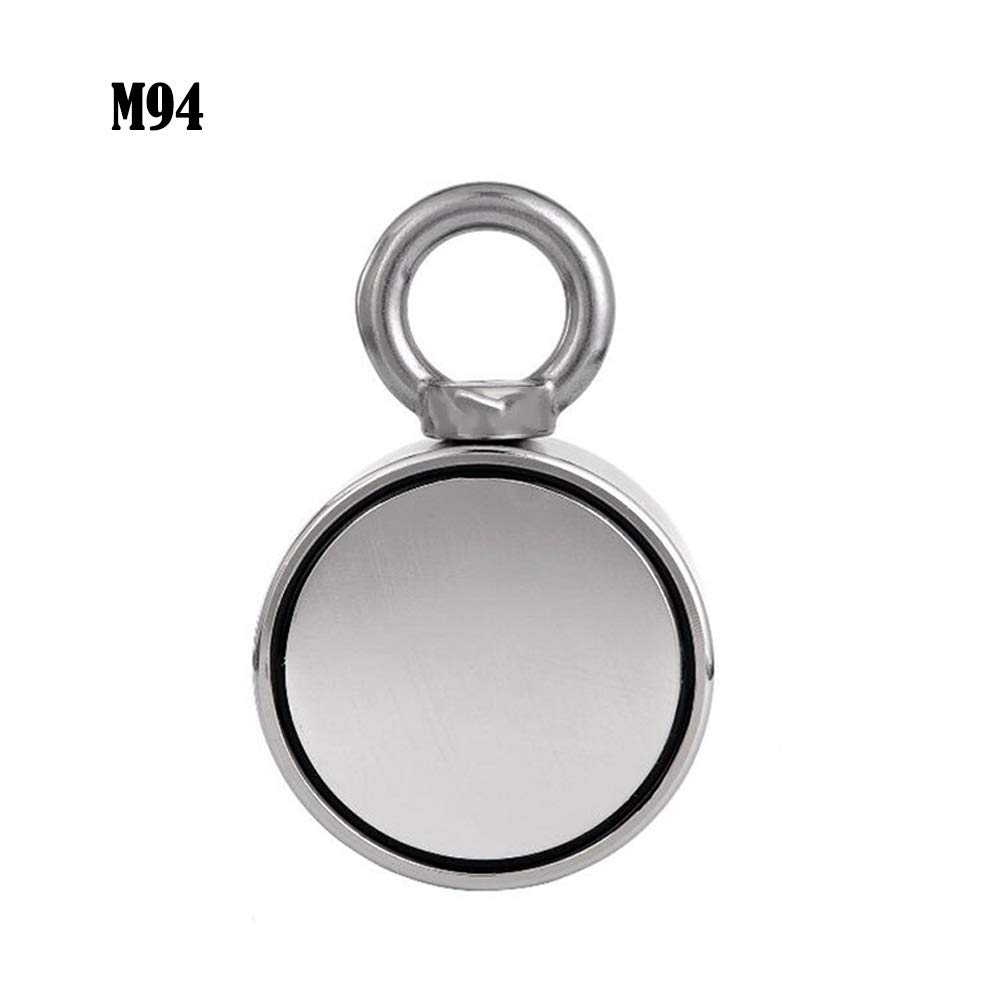 M94 - Super Strong Magnet Double Sided Fishing Magnet, Combined Pulling Force Super Strong Neodymium Round Magnet for Magnetic Fishing